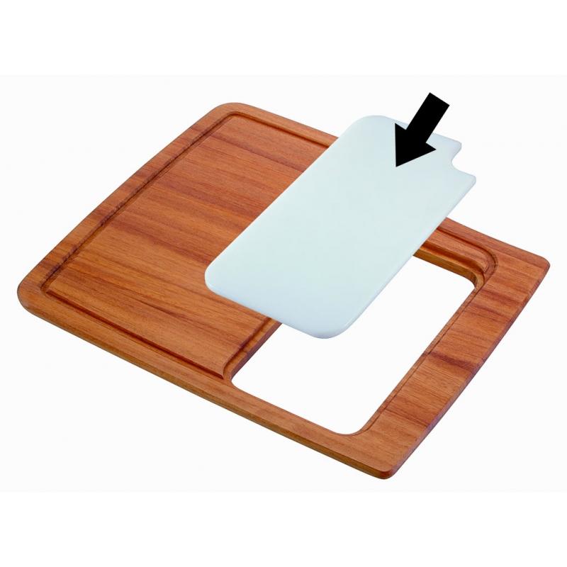 TAGLIERE PER LAVELLO MONOVASCA HR0860 tagliere in legno iroko con foro per VAS93-0